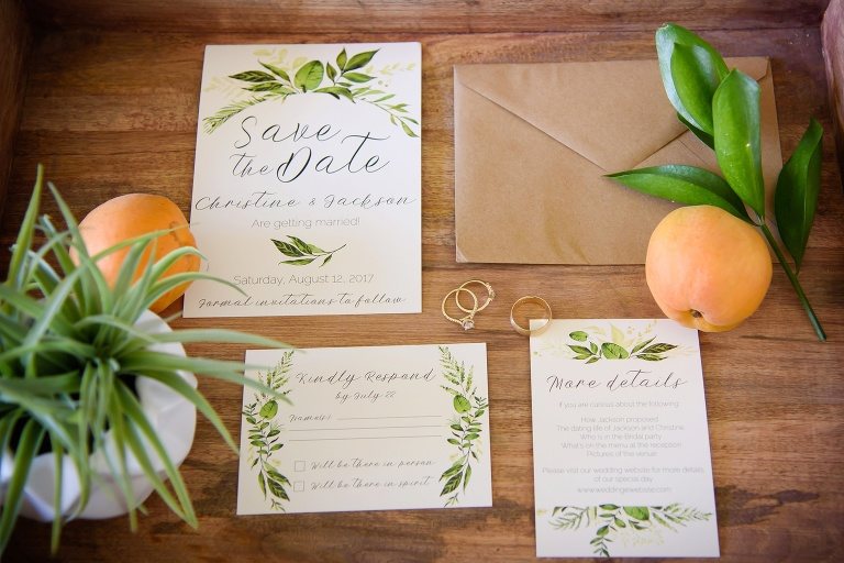 floral wedding invitations and save the date cards Draper, Utah
