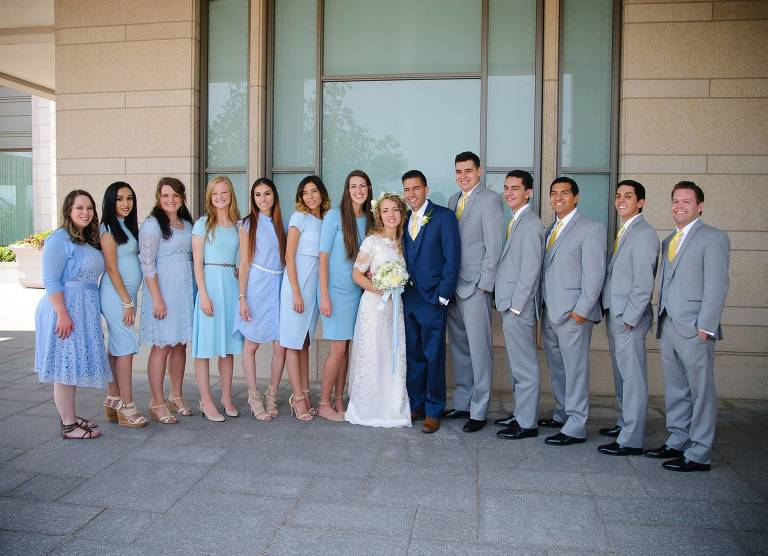 Bridal party Oquirrh Mountain Temple