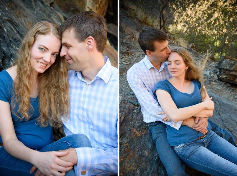 Utah engagement photos in Big Cottonwood Canyon