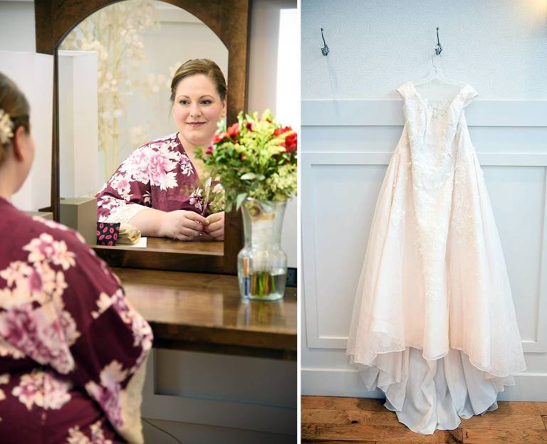 Utah bride gets ready for her wedding