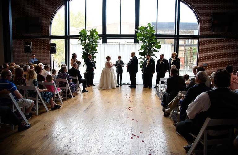 Trolley Square wedding ceremony