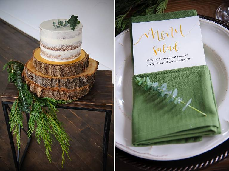 Utah winter wedding cake