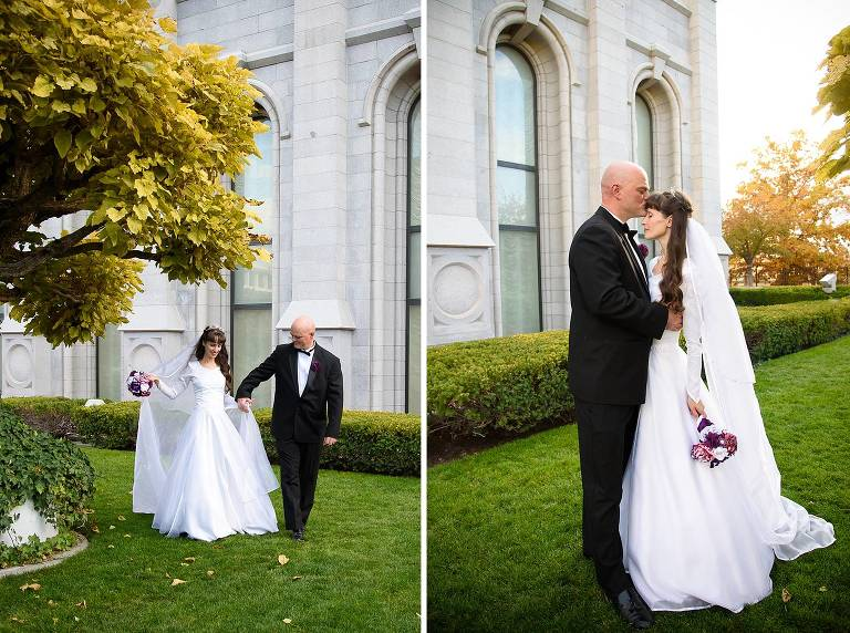 Salt Lake Temple Wedding Anniversary Photos