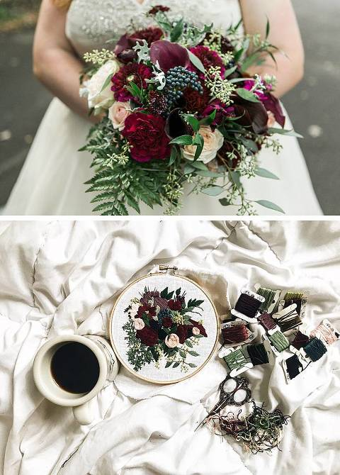 silk ribbon embroidery wedding bouquet reproductions