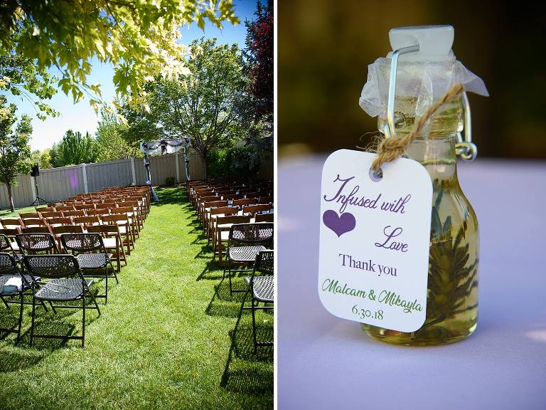 Utah backyard wedding details