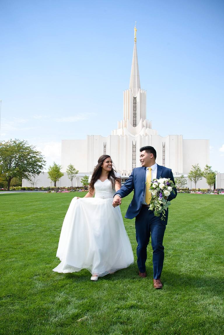 Jordan River Utah Temple wedding day